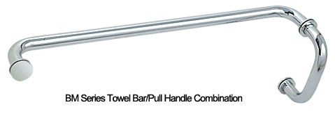 Towel Bar/Pull Handle Combo