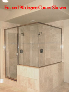 Framed Corner Shower