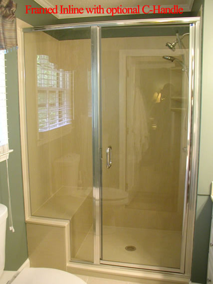 Framed Inline Chrome Shower