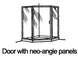 Door with Neo Angle Panels