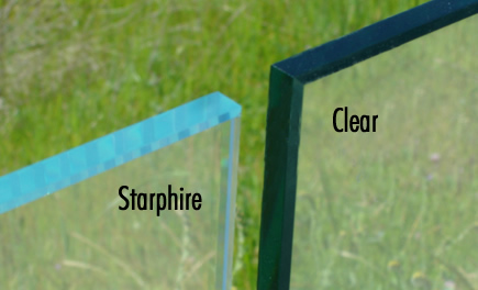 Clear Glass vs Starphire Glass
