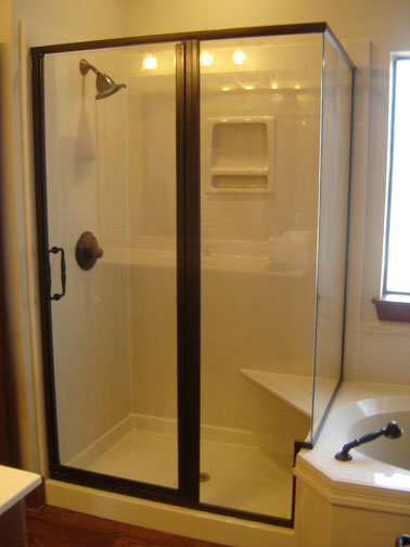 1/4 Door Corner Shower