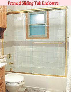 Framed Sliding Tub Enclosure
